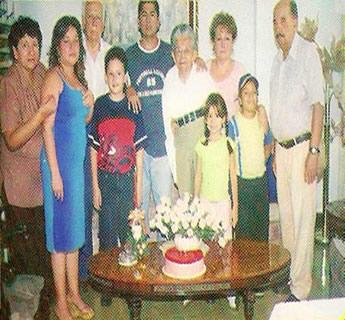 Oscar Duda y familia