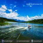 Laguna de Burlan se practica deportes acuáticos