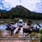 ¨Pasando la balsa cautiva en el río Chinchipe en La Guayaba